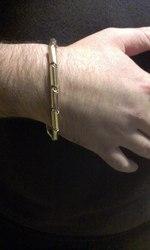 Эксклюзивный золотой мужской браслет