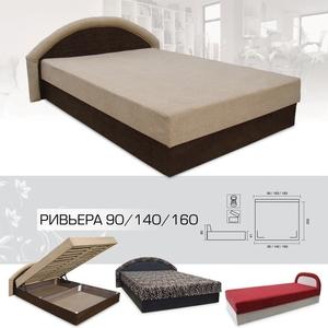 Кровать Ривьера 90 / 140 / 160 (Вика)