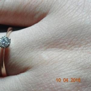 Кольцо с бриллиантом 0, 23карат