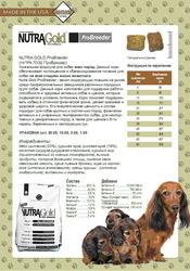 Доставка корма для собак супер премиум NUTRA GOLD ProBreeder 20 кг